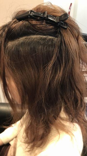 蒲田スパーキースタッフの作品ビフォー美髪矯正技術