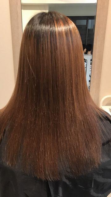 蒲田スパーキースタッフの作品アフター美髪矯正技術