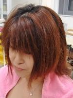 美髪矯正シルクレッチ髪質改善を目的とした技術ビフォー